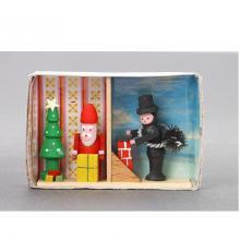Zündholzschachtel Weihnachten und Neujahr