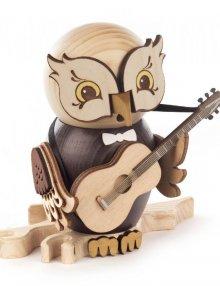 Räucherfigur Eule mit Gitarre