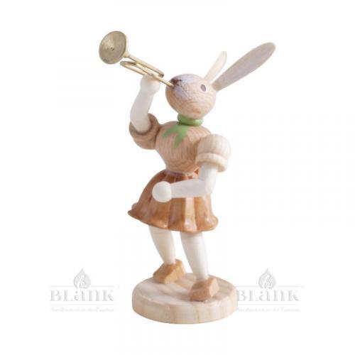 Blank Osterhase mit Trompete