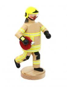 Räuchermann Feuerwehrmann, beige Bekleidung