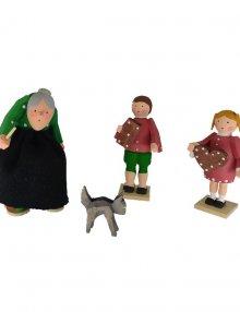 Figuren Hexe, Hänsel, Gretel und Kater
