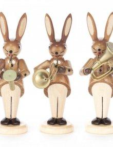 Hasentrio Bläser mit Saxophon, Waldhorn und Tenorhorn, natur