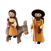 Maria und Josef auf Esel gebeizt