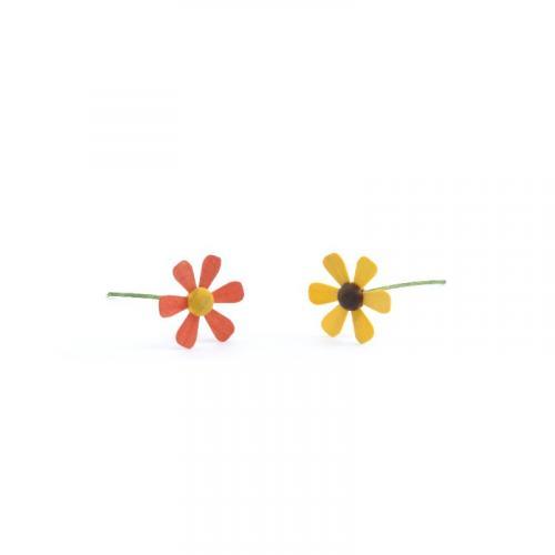 Vögel mit Blume, Blumen