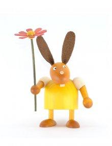 Hase mit Blume, ca 7cm