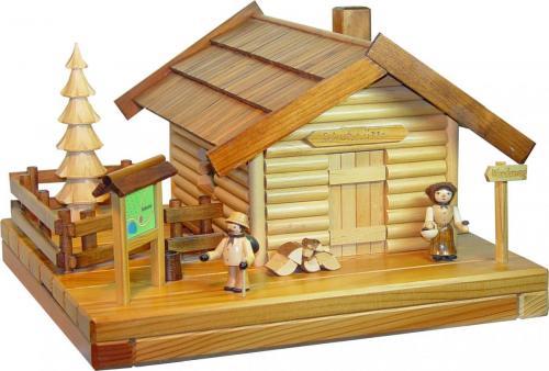 Räucher - Lichterhaus Schutzhütte mit Figur
