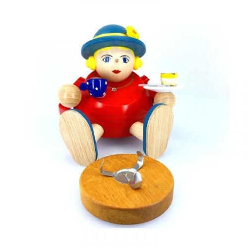 Kugelräucherfrau Zuckerschnecke mit Eierschecke