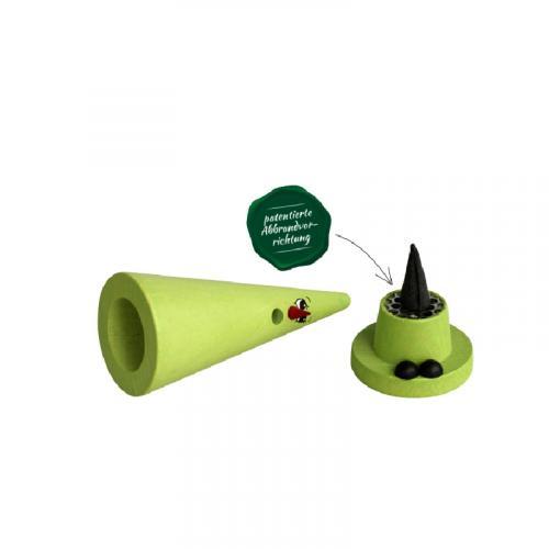 Crottendorfer Räucherfigur, Ziegenbein, hell-grün Mila Melisse