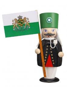Räuchermann Bergmann mit Fahne