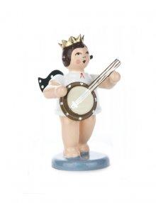 Engel mit Banjo und Krone