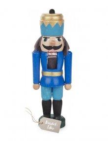 Bastelset Nussknacker König, blau