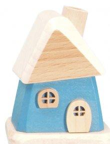 Räucherhaus, blau