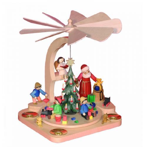 Treppenpyramide Weihnachtsmann