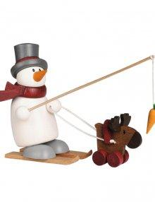 Figur mit Herz, Fritz mit Ski und Elch