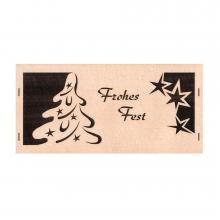 Glückwunschkarte mit Tannenbaum, Frohes Fest