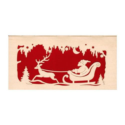 Weihnachtskarte Weihnachtsmann auch zum stellen