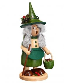 Räucherfrau Wichtelfrau mit Pilzkorb