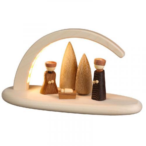 LED-Leuchterbogen Christi Geburt, natur