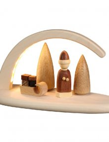 LED-Leuchterbogen Weihnachtsmotiv, natur