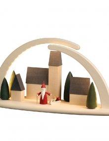 LED - Doppelbogen Stadt Weihnachtswichtel, groß