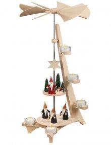 Pyramide L-Form Bergwichtel und Weihnachtswichtel, 2-Etagen