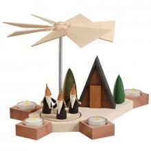Tischpyramide Octogonum, Bergwichtel