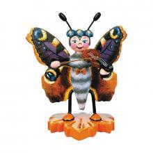 Schmetterling Pfauenauge mit Geige