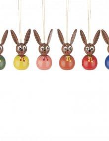 Behang Osterhase zweifarbig, 6teilig