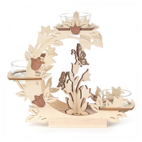 Teelichthalter Blütenkranz Tulpen