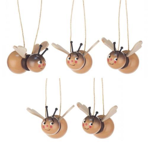 Behang Hummeln mit lustigen Gesichtern
