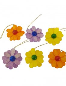 Behang Blüten 6-tlg., farbig