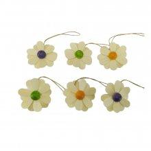 Behang Blüten 6-tlg., natur