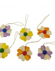Behang Blüten 6-tlg., 2-farbig
