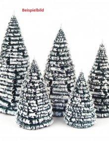 Raureifbäume grün-weiß Set, gemischt