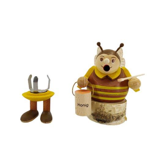 Minikugelräucherfigur Biene