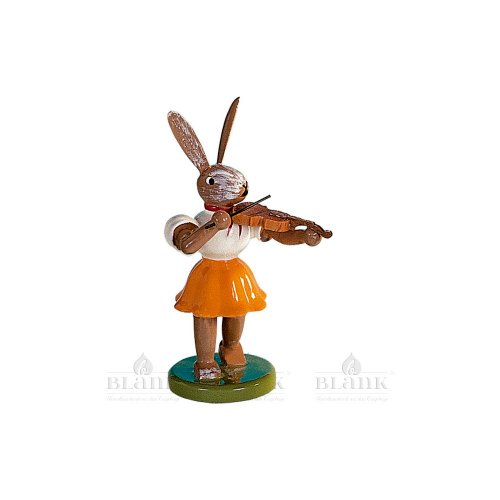 Blank Osterhase mit Violine, farbig