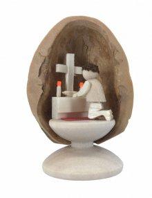 Gebet in Walnussschale, stehend