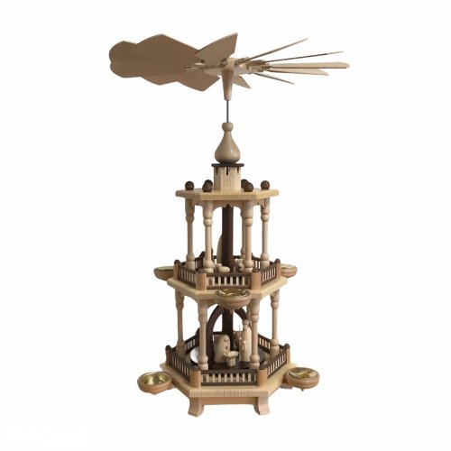 Pyramide Christi Geburt, 2-stöckig natur