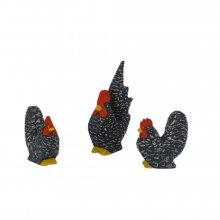 Chabo-Hühner, gesperbert