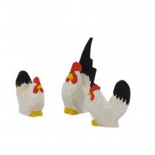 Chabo-Hühner, schwarz-weiss