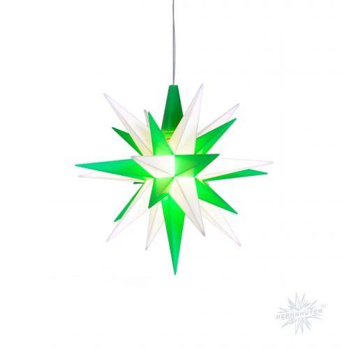 Herrnhuter Stern Kunststoff 13cm grün/weiss