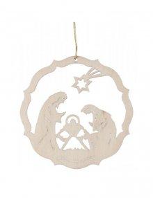 Erzgebirgischer Baumbehang Christi Geburt, natur