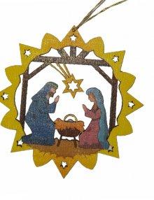 Erzgebirgischer Baumbehang Christi Geburt