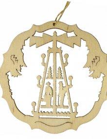 Erzgebirgischer Baumbehang Pyramide, natur