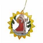 Erzgebirgischer Baumbehang Weihnachtsmann, farbig