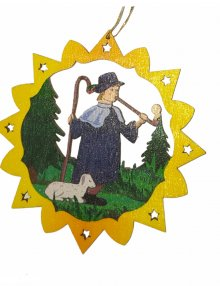 Erzgebirgischer Baumbehang Schäfer, farbig