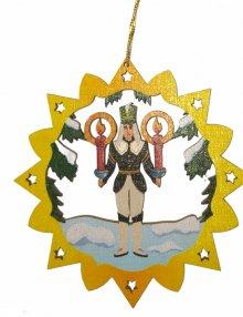 Erzgebirgischer Baumbehang Bergmann, farbig