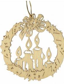 Erzgebirgischer Baumbehang Adventskerze, natur
