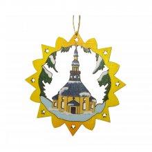 Erzgebirgischer Baumbehang Seiffener Kirche, farbig