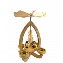 Teelichtpyramide Holzmacher
